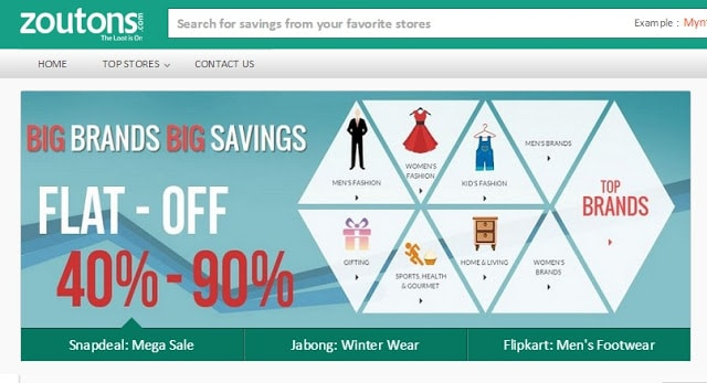 online shopping using Zoutons